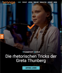 Die rhetorischen Tricks der Greta Thunberg